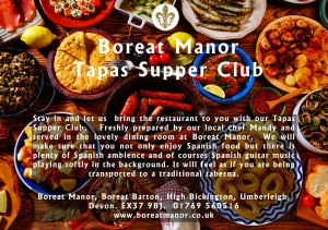 Tapas supper club - front a5